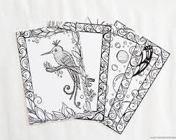 coloring postcards. Unique Postcards Coloring Book For Adults Blank Postcards  Mixed Collection Of 12 Cards  Impossible Animals Series Intended C