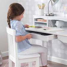 Avalon Desk with Hutch and Chair - White ...
