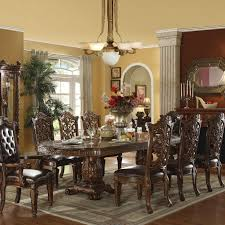 traditional dining room tables. Furniture Traditional Dining Room Tables Unbelievable Acme Vendome Table And Chair Set Pict For Trend Light Fixtures I