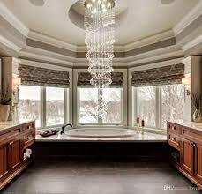 Großhandel Moderne K9 Kristall Regentropfen Kronleuchter Beleuchtung Unterputz Led Deckenleuchte Leuchte Pendelleuchte Für Esszimmer Badezimmer