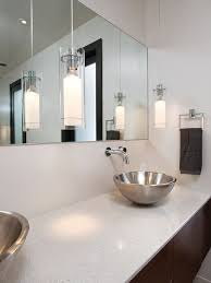 pendant lighting for bathrooms. modern bathroom idea in atlanta with a vessel sink pendant lighting for bathrooms