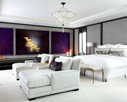 bedroom lounge furniture. trendy bedroom photo in toronto with gray walls lounge furniture a