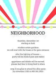 Neighborhood Party Invitation Wording Neighborhood Party Invitation Wording Mstan Designs