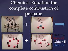 chemical equation for complete combustion of propane