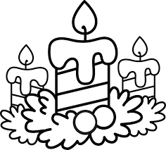 Small Picture Christmas Candle Coloring Pages Best Celebration Day