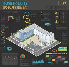 Design Your Own Office Gorgeous Flat 48d Isometric Police Department And City Map Constructor