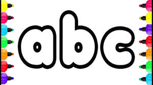 Abc Alphabet Coloring Pages Drawing Small Letter Abc And Coloring