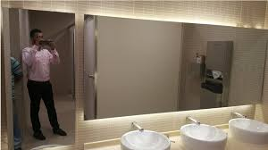 bathroom mirrors for a hotel in dubai