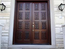 front double doorsCarved Double Doors Design Ideas With Wooden Materials And Stone