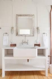 cottage style bathroom vanities. Astounding Cottage Style Bathroom Lighting With Array Rustic Open Vanity And White Porcelain Rectangular Vessel Vanities