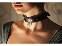 more from this vendor black leather choker