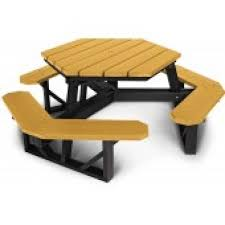 6 ft hexagonal recycled plastic picnic table