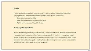 Profile Summary How To Write A Professional Profile Resume Genius