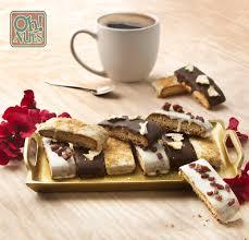 rosh hashanah handmade chocolate biscotti gift box 3 variety 12ct rosh hashanah gift baskets rosh hashanah gifts oh nuts