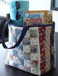 Quilt Inspiration: Free pattern day: Tote bags ! & Clermont Farms Quilted Tote Bag tutorial by Glenn Dragone for Moda Bakeshop  (PDF download) Adamdwight.com