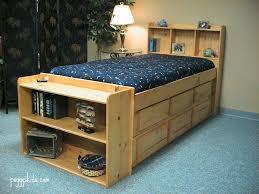 bookcase captain s bed custom