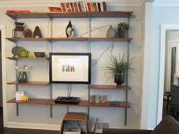 Built In Wall Shelves Living Room Built In Wall Living Room Shelves Combine Wooden