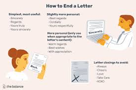 Proper Letter Format Personal How To End A Letter With Closing Examples