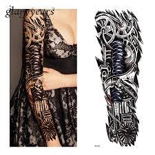 1 шт татуировка наклейка роботизированная машина механизм шаблон