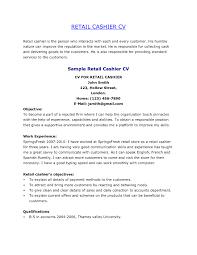 Resume For Cashier Sample Resume Cashier Retail Stores RESUME 12