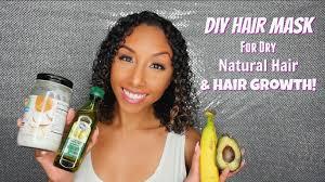 diy hair mask for dry natural hair and hair growth