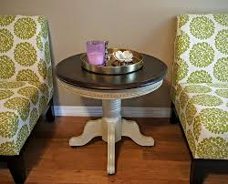 Country Coffee Tables And End Tables Solid Oak Round End Table Refinished In Annie Sloan Country Grey