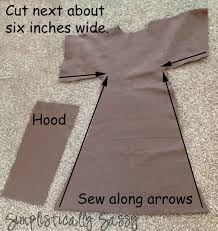 step by step jedi robe tutorial