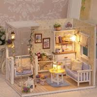 wholesale wooden doll dinning house furniture. cheap wholesaledoll house diy miniature wooden puzzle 3d dollhouse miniaturas furniture doll for wholesale dinning k