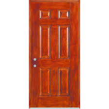 Stanley Doors 32 in. x 80 in. Right-Hand Infinity 6-Panel Stained ...