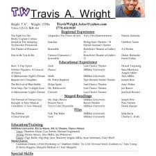 theater resume template outline theater resume template template pleasing beginner acting resume template sample theater beginner acting resume sample