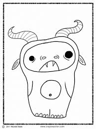Small Picture Monster Coloring Page Crayon Action Coloring Pages