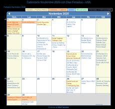Calendario Noviembre 2020 Para Imprimir Calendario Noviembre 2020 Para Imprimir Estados Unidos