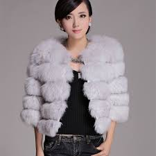 2016 autumn winter women s genuine real natural fox fur jacket lady warm short outerwear coats vf0218
