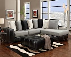 Fascinating Furniture For Living Room Decoration Using Black And - Black couches living rooms