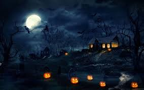 happy halloween night wallpaper 3d