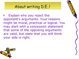 discursive and argumentative essays about writing d e 8