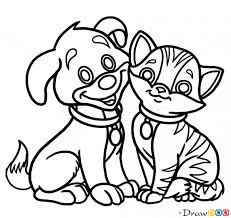 Small Picture How to Draw Puppy and Kitty Dogs and Puppies