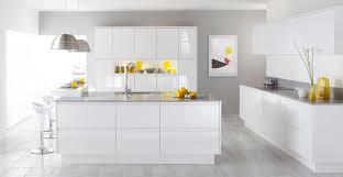 High Gloss White Kitchen Decorations Best Rectangle Black Modern Kitchen Island Design