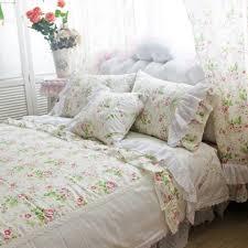french rose linen duvet cover set