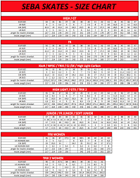 Size Chart Sg Sports