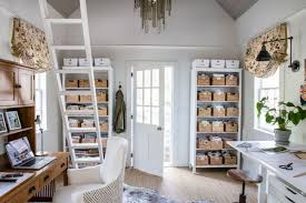 White airy home office Scandinavian Transitional Home Office By Home Glow Design Photos Hgtv Winter Cabins And Porches With Airy White Palettes