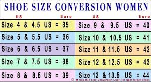 Shoe Sizing Chart Women Google Search Shoe Size Chart