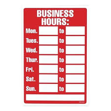Hours Of Operation Template Free Hours Operation Template Business Sign Printable With Word Portrait