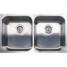 blanco spex plus undermount stainless steel 31 13 in equal double bowl kitchen sink 440258 the home depot