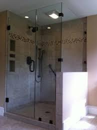 frameless glass shower door panel knee wall scott albin glass