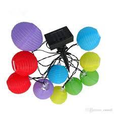 GDEALER Lantern Solar String Lights 24ft 30LED Folding Waterproof Chinese Lantern Solar Lights
