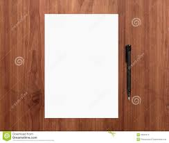 blank paper with pen on desk stock photography image contact paper on desktop paper on desk