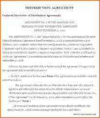 Lovely Exclusive Reseller Agreement Template Amazing Distributor