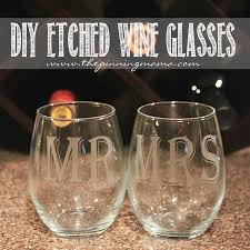 how to make etched wine glasses makes a great gift