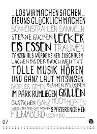 Typokunst Kalender Für 2017 Mit Zwölf Lustigen Sprüchen Und